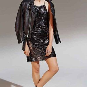 Ecote Urban Outfitters Sequin Mini Dress Black